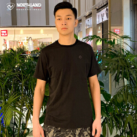 诺诗兰19夏季新款短袖速干吸汗休闲透气户外运动圆领T恤GL085243