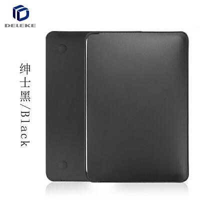 苹果笔记本air13.3寸电脑包Macbook内胆包保护套12皮套11男女11.6英寸轻薄便携手提新 绅士黑 12寸