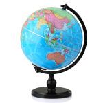 博目地球仪:20cm政区灯光地球仪(炫影黑架)