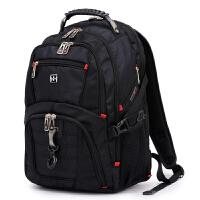 2018新款大容量商务旅行包双肩包瑞士背包男士高中学生书包电脑包
