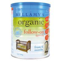 澳大利亚Bellamy's贝拉米有机婴儿牛奶粉2段(6-12个月宝宝)900g【1罐装】