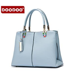 【支持礼品卡】DOODOO 包包2018新款韩版斜挎百搭OL大容量女包单肩手提包手拎包潮 D6165