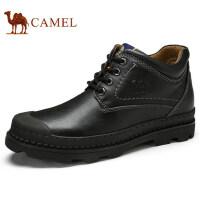 camel 骆驼男鞋秋季新品时尚工装鞋舒适缓震牛皮日常休闲靴