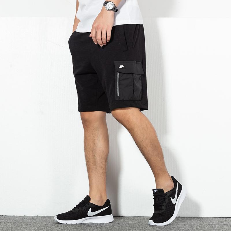 NIKE耐克 男裤 运动五分裤休闲透气短裤 BV3117-010 运动五分裤休闲透气短裤