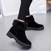 2019冬季新款中跟韩版短靴女鞋百搭女靴子中筒棉靴雪地靴女马丁靴