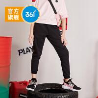 【下单立减到手价:89.5】361度童装 女童针织长裤2020夏季新品运动长裤儿童运动裤女童休闲裤子