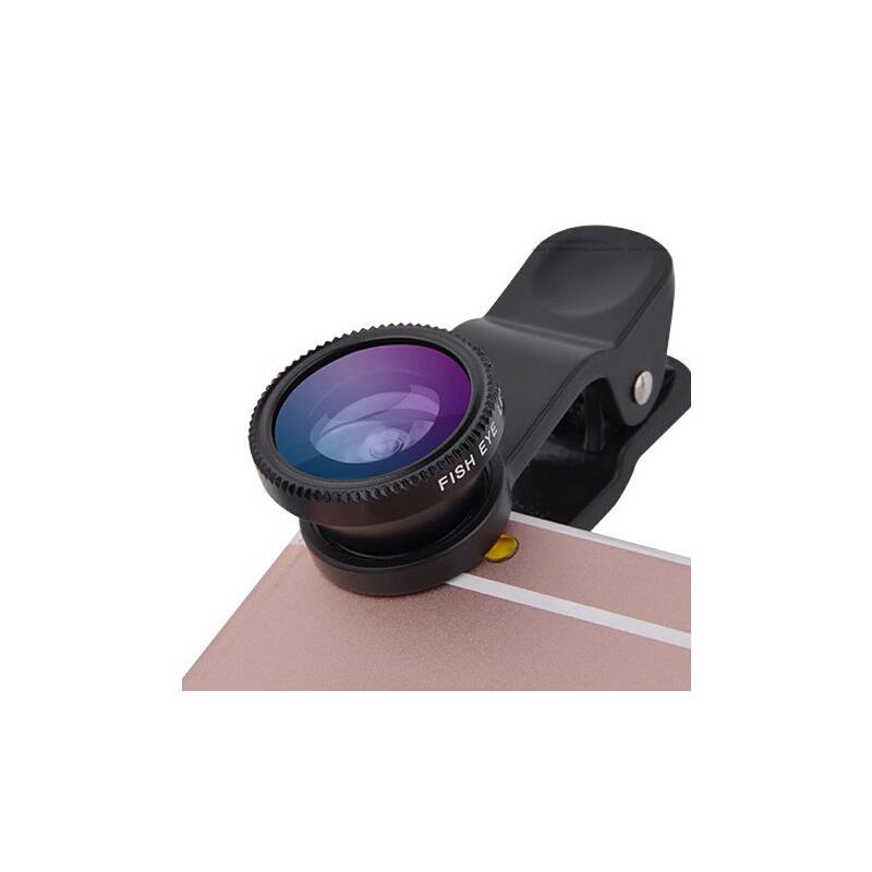 Liweek 手机镜头广角微距鱼眼三合一套装通用单反高清拍照oppo照相摄像头 黑色【8 倍长焦】【手机通用】【秒变单反】