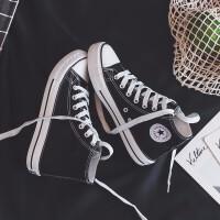 帆布鞋女学生韩版百搭女鞋夏秋季新款休闲板鞋女学生透气跑步鞋韩版情侣女士运动时尚小白鞋