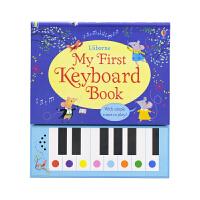 Usborne My First Keyboard Book 键盘钢琴发声书 9首儿童英语歌谣 英文原版图书