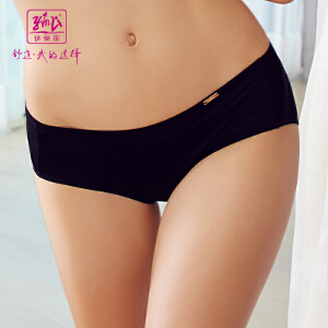 依曼丽性感透气舒适提臀女士棉质内裤 女士中低腰平角裤5603
