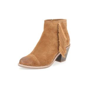 Clarks/其乐女鞋2017秋冬新款流苏时尚休闲高跟短靴Midnight Moon专柜正品直邮