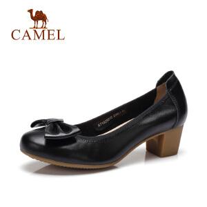 Camel/骆驼女鞋  春夏季新款休闲女单鞋 蝴蝶结浅口女鞋
