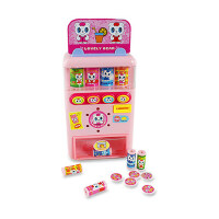 宝丽/Baoli儿童仿真售货机收银机过家家玩具女孩男孩投币饮料机