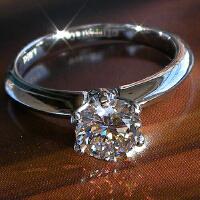 戒指 女情侣对戒指环钻石仿真钻戒 女戒指婚戒