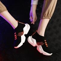 201905080650563802019夏 新款欧美真皮松糕内增高镂空透气高帮 女学生小白潮鞋