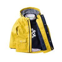 欧美童装秋装男童外套儿童宝宝夹克雨衣风衣