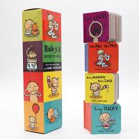 Baby's Book Tower 英文原版 宝宝塔书 纸板书 4册 Leslie Patricelli no no