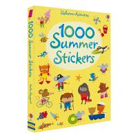 Usborne Activities 1000 Summer Stickers 关于夏天的贴纸书 精美场景 儿童英语1