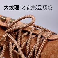 男女工装鞋带圆形皮鞋大头鞋低帮中高邦白色黑色鞋带