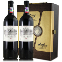 法国原装原瓶进口红酒 拉菲奥希耶古堡干红葡萄酒 750ml*2礼盒装2014年
