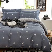 网红棉四件套床上用品纯棉被套床单4件套1.5米三件套