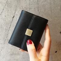 皮卡包女式多卡位韩国可爱卡片包女士专享个性简约迷你小巧卡夹 黑色 预售3月20号发出
