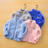 儿童立领外套冬季童装男童宝宝开衫上衣女童保暖外套