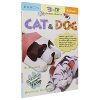 【首页抢券300-100】Kumon 3D Paper Crafts Cat&Dog 公文式教育 3D折纸手工 猫和狗
