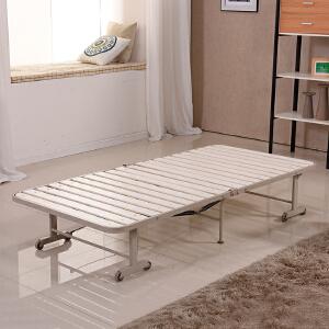 未蓝生活折叠床木板床单人午休午睡老人硬床实木环保简易便携90cm