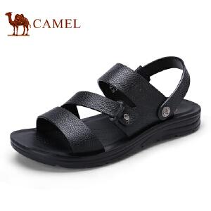 骆驼牌男凉鞋 新品时尚休闲沙滩鞋舒适透气牛皮鞋男
