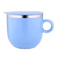 304不锈钢儿童杯子保温学生防摔宝宝饮水杯带盖有手柄