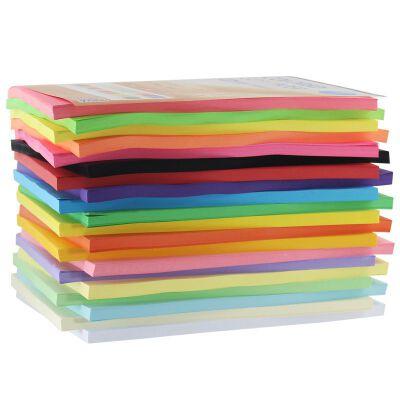 彩色平面卡纸 80g彩色复印纸 A4彩色手工纸 儿童折纸 彩色纸