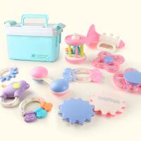婴儿玩具牙胶摇铃0-3-6-12个月宝宝益智0-1岁新生儿可水煮手摇铃