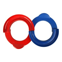 维莱 幼儿园感统训练器材八八轨道注意力集中力训练协调儿童早教玩具 红蓝