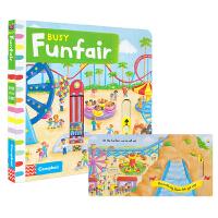 Busy Funfair 英国进口纸板机关操作书 忙碌系列机关 游乐场 3-6岁英语互动故事绘本 儿童英文原版进口图书