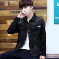 春秋季新款男士外套男韩版潮流修身夹克男帅气休闲黑色长袖上衣服