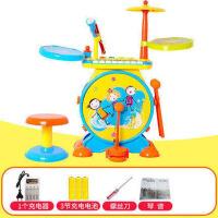 儿童敲打乐器电子琴初学者组合1-3-6岁架子鼓爵士鼓
