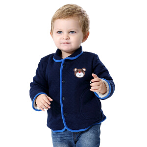 【1件3折价:68.7】纤丝鸟(TINSINO)儿童加绒外套男女童保暖上衣宝宝棉衣