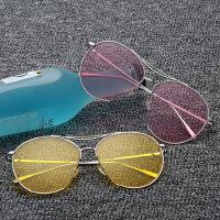 墨镜女潮 男眼镜 偏光太阳镜女士圆脸时尚复古眼镜 支持礼品卡支付