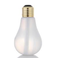 灯泡迷你空气加湿器创意usb宿舍办公室卧室家用静音桌面小型礼品 纯白款