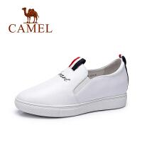 Camel/骆驼女鞋 新款 韩版休闲鞋套脚显高内增高单鞋