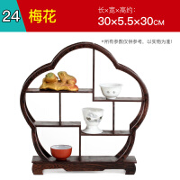 实木茶杯架子茶道茶饼架小博古架茶柜收纳置物架普洱茶壶茶具配件