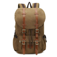 户外旅行大包双肩包背包户外新款欧美帆布包双肩包男女包大容量电脑背包 19寸