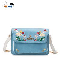 Miffy/米菲2017夏季新款斜挎包 时尚潮流复古单肩包 刺绣女包包潮