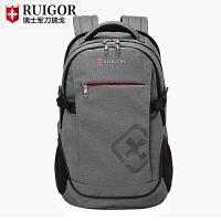 2018新款双肩包男瑞士背包休闲旅行包学生书包电脑背包.6寸
