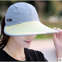 户外出游百搭太阳帽 防晒遮阳帽女大沿帽可折叠沙滩帽男情侣款