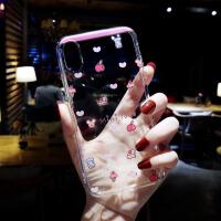 小清新苹果x手机壳硅胶7plus软硅胶套iphone8新款6s可爱卡通女 6/6S 4.7寸 透明卡通