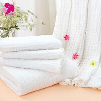 宝宝纱布浴巾婴儿洗澡浴巾新生儿秋冬柔软毛巾被加大加厚
