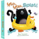 英文原版 Splish Splat the Cat 啪嗒猫 纸板书 汪培�E推荐 儿童英语学习绘本 名家Rob Scot
