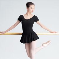 舞蹈练功服女长袖芭蕾连衣裙短袖连体基训形体服教师裙体操服